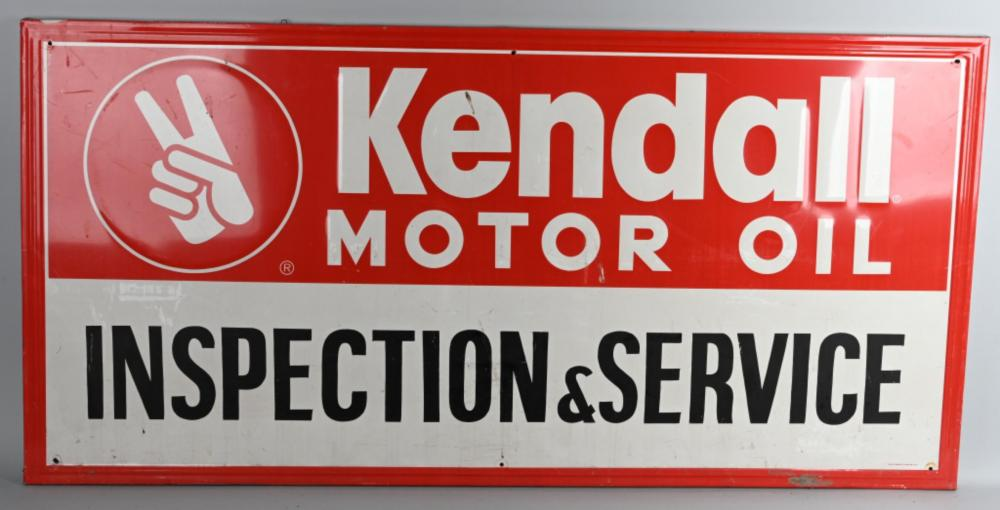 Kendall Motor Oil Inspection & Service Metal Sign