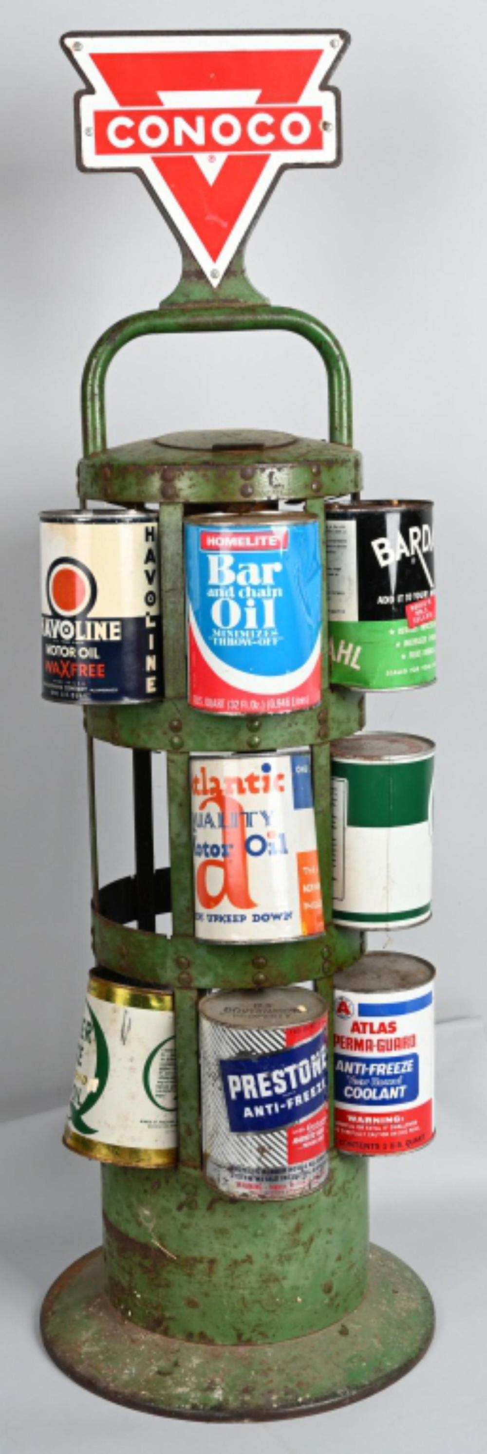 Conoco Oil Can Service Station Display Rack
