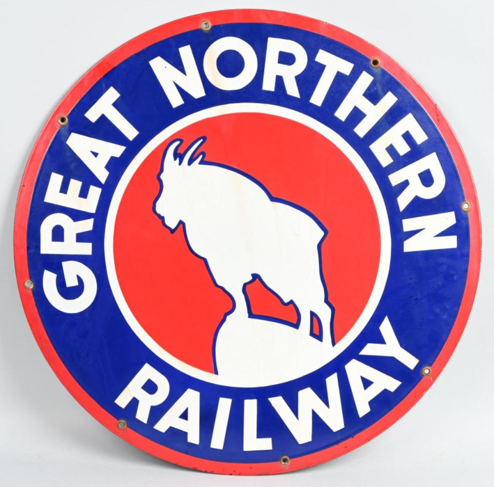 Great Northern Railway w/logo Porcelain Sign