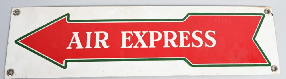 Air Express in Arrow Porcelain Sign
