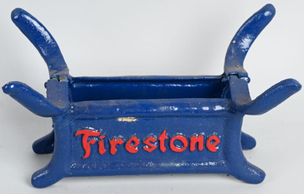 Firestone Cast Iron Embossed Tire Stand