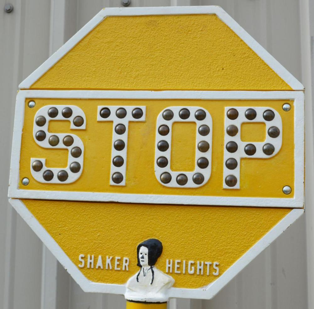 Glass Jeweled Cast Iron Stop Sign