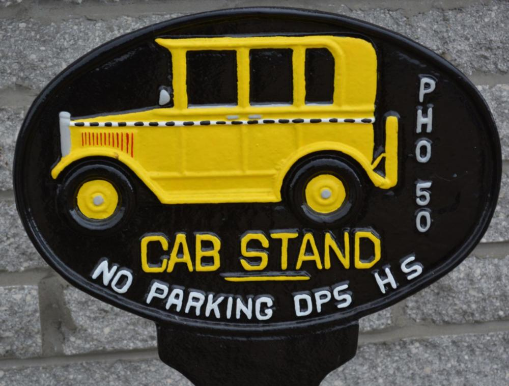 Reproduction Cast Iron Cab Stand No Parking Curb s