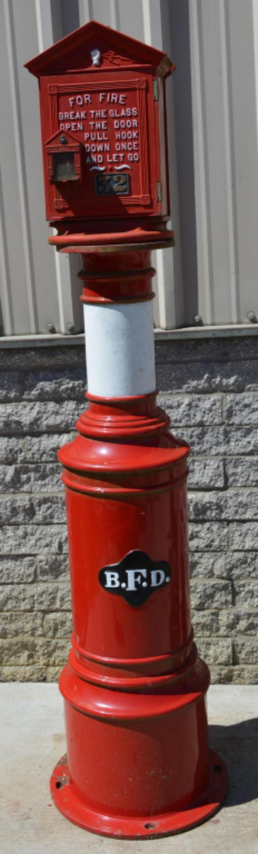 Gamewelll Fire Alarm Box on Cast Iron Pedestal BFD
