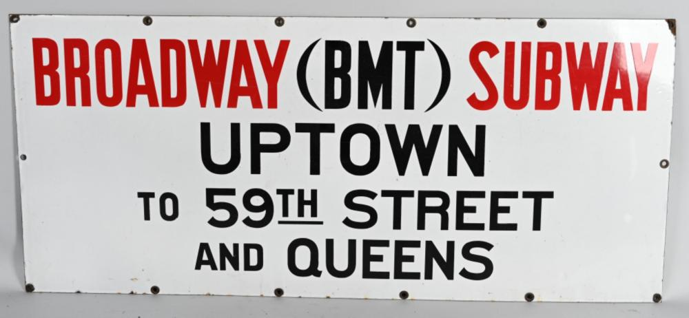 NYC Broadway Subway to Uptown and Queens Porcelain