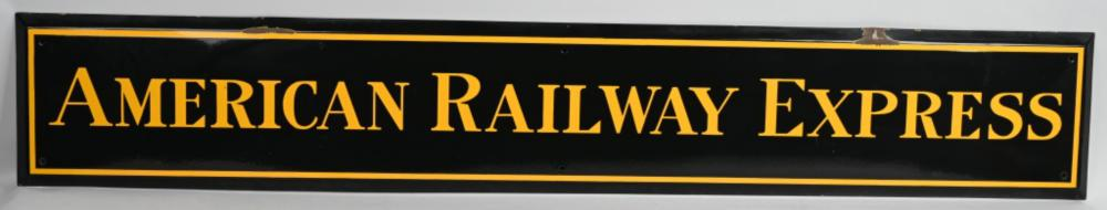 American Railway Express Porcelain Sign