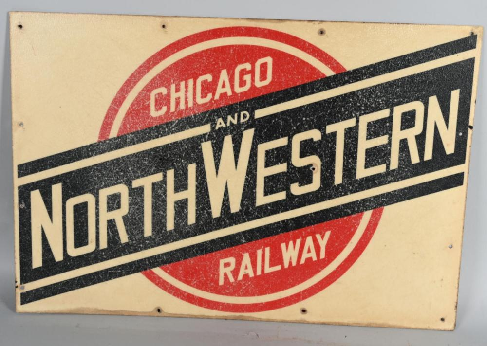 Chicago and Northwestern Railway Car Sign
