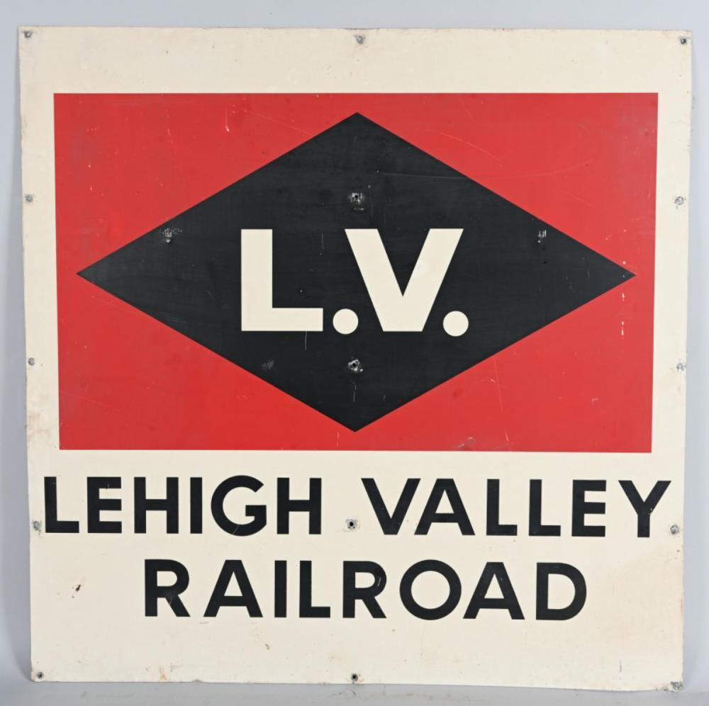 Leigh Valley Railroad Metal Car Sign