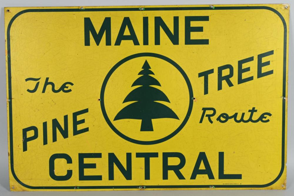 "Maine Central ""The Pine Tree Route"" Metal Car Si"