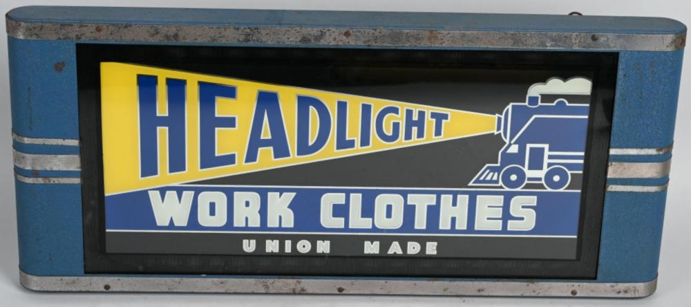 Headlight Work Clothes Lighted Sign