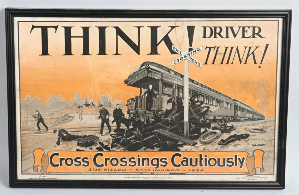 "1924 ""Cross Crossing Cautiously"" Poster"