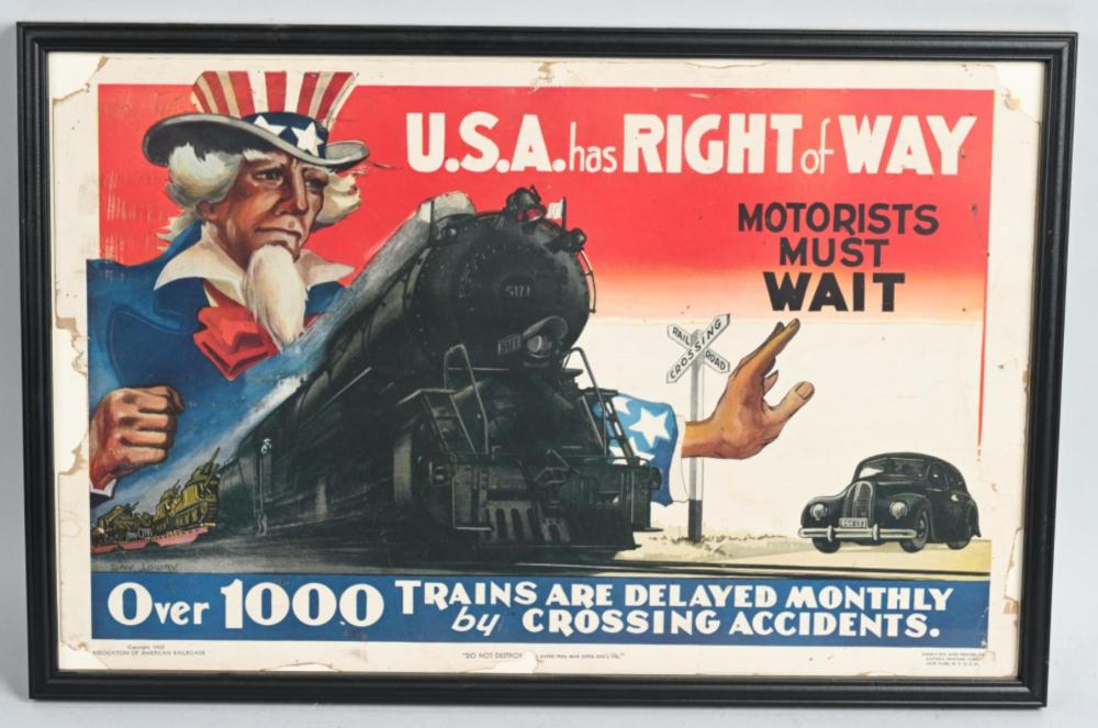 1943 USA has Right of Way Poster