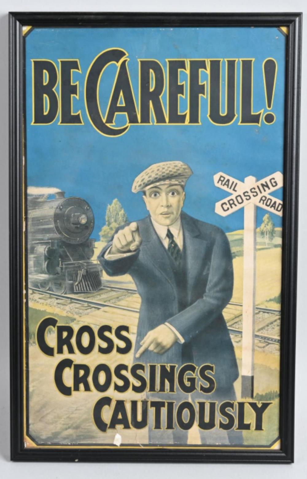 Be Careful! Cross Crossing Cautiously Poster