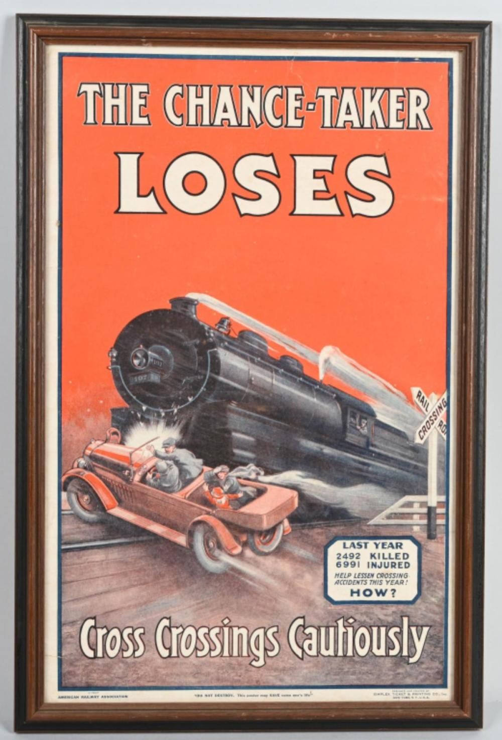"1927 ""The Chance-Taker Loses"" Poster"