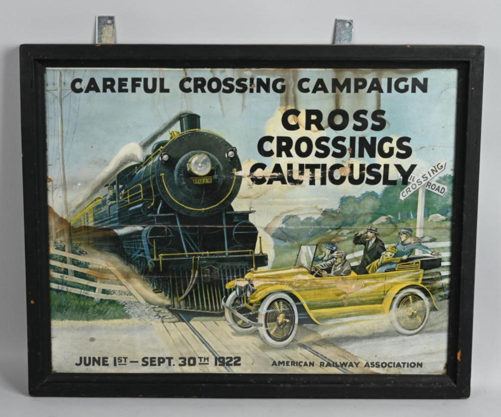 1922 Careful Crossing Campaign Poster