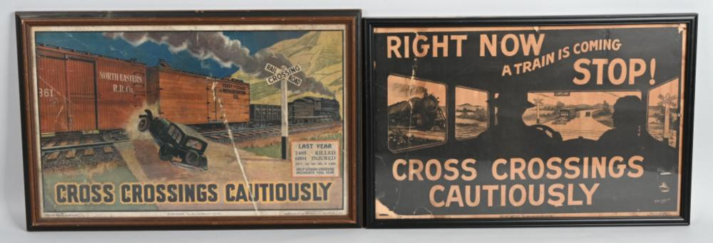 1930 & 1933 Cross Crossing Cautiously Posters