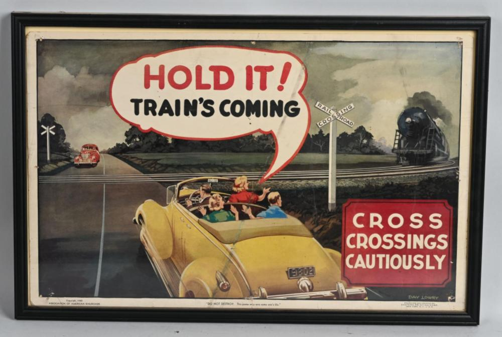 "1940 ""Hold it Train's Coming"" Poster"