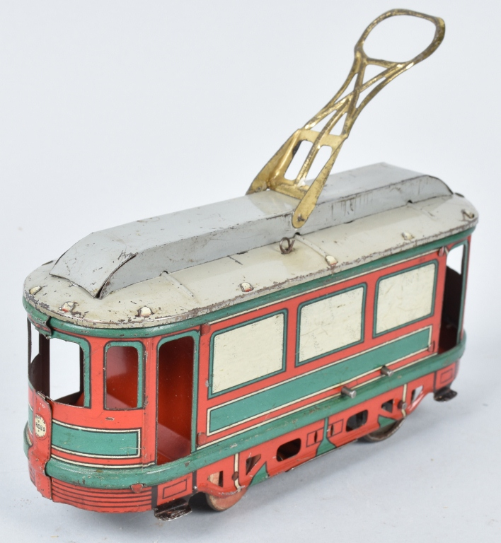 OROBR Tin Windup TROLLEY STREET CAR