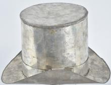 EARLY SOLDERED TIN TOP HAT ICE BUCKET