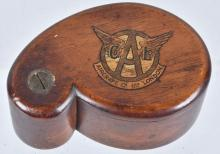 VINTAGE AIRCRAFT CO. LONDON WOODEN BEE WAX BOX