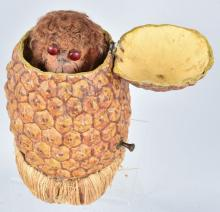 ROULLET & DECAMPS MONKEY IN PINEAPPLE AUTOMATON