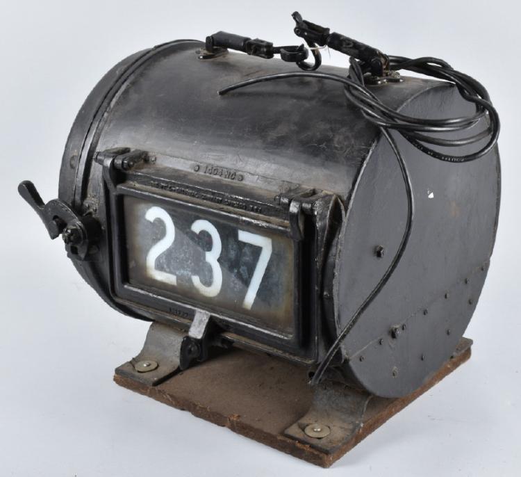 Antique Train Headlight : Early pyle national locomotive headlight