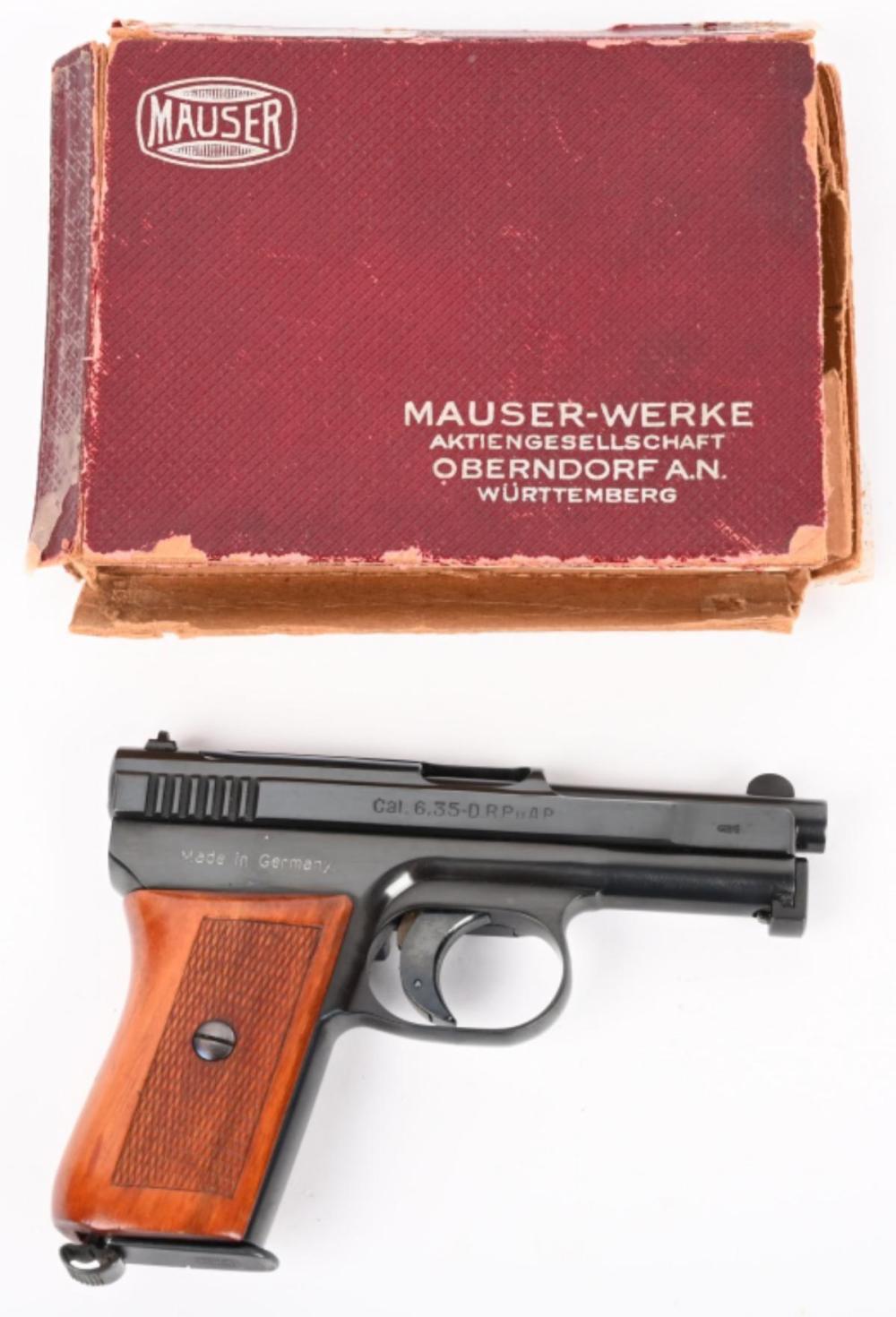 PRISTINE BOXED MAUSER MODEL 1910 PISTOL