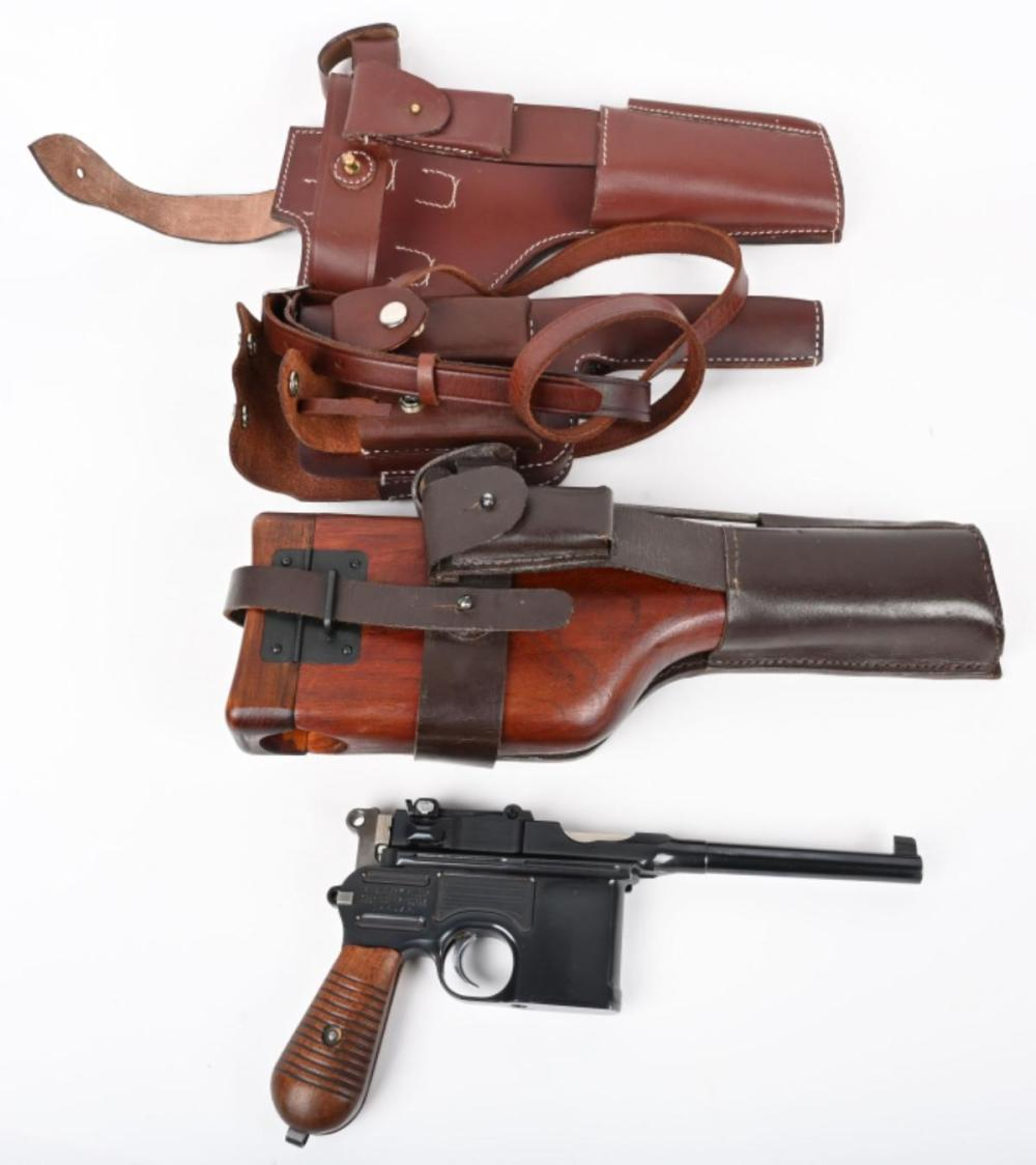 MAUSER MODEL 1930 BROOMHANDLE WITH HOLSTERS