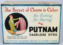 PUTNAM DYES STORE DISPLAY TIN