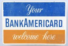 BANK AMERICARD DS TIN SIGN