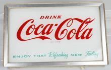 DRINK COCA COLA GLASS COOLER SIGN