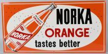 NORKA ORANGE SODA TIN SIGN