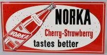 NORKA CHERRY-STRAWBERRY SODA TIN SIGN