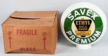 SAVEX PREMIUM w/ ETHYL LOGO DS GAS GLOBE MIB