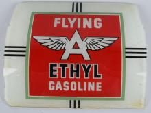 FLYING A GLASS GAS PUMP SIGN