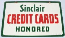 SINCLAIR CREDIT CARDS HONORED DS SIGN