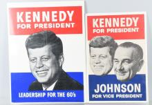 2- 1960 JOHN F KENNEDY PRESIDENT CAMPAIGN POSTERS