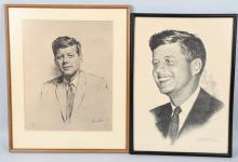2- 1960 JOHN F KENNEDY PORTRAITS