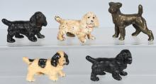 5-HUBLEY CAST IRON DOG PAPERWEIGHTS