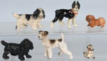6-HUBLEY CAST IRON DOG PAPERWEIGHTS