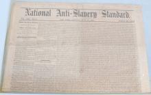 NATIONAL ANTI-SLAVERY STANDARD NEWSPAPER
