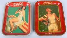1930 & 1939 COCA COLA SERVING TRAYS