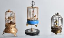 LOT of 3 BIRD CAGES, CLOCKS & MORE