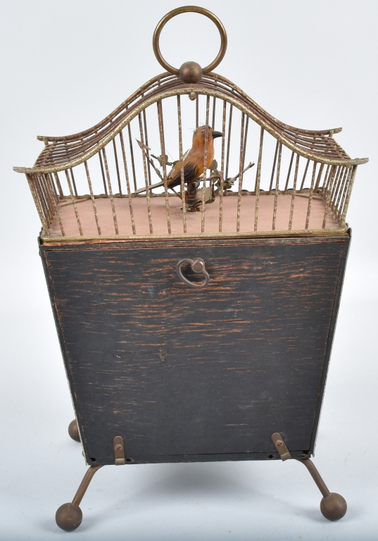 GERMAN BIRD in CAGE ANIMATED CLOCK