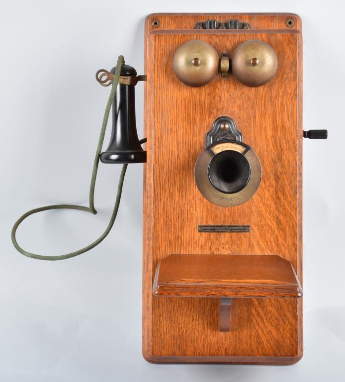 STROMBERG CARLSON OAK WALL TELEPHONE, VINTAGE