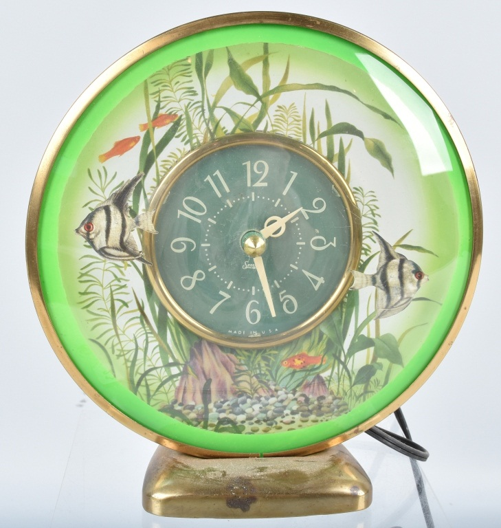 SESSIONS ANIMATED FISH CLOCK, VINTAGE