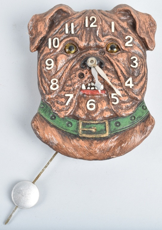 KEEBLER BULLDOG NOVELTY CLOCK