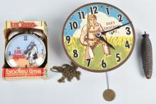 2-CHARACTER CLOCKS, DAVY CROCKETT & LONE RANGER