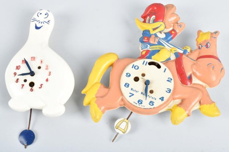 2-CHARACTER CLOCKS, WOODY WOODPECKER & SCHMOO