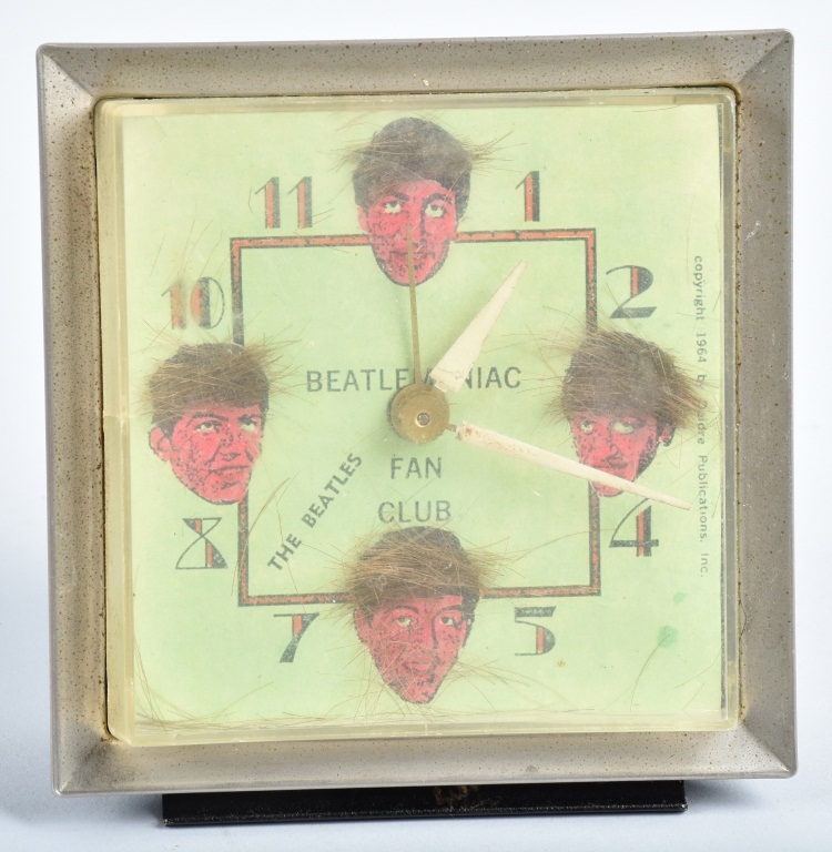 1964 BEATLES FAN CLUB ALARM CLOCK